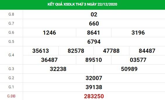 Soi cầu dự đoán XS Daklak Vip ngày 29/12/2020