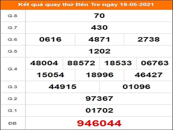 Quay thử kết quả xổ số Bến Tre 18/5/2021
