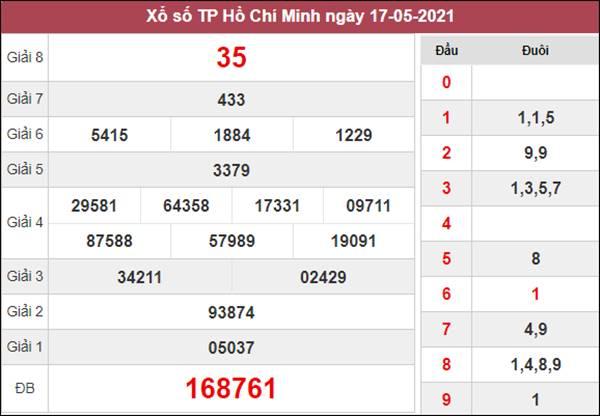 Thống kê XSHCM 22/5/2021 chốt lô VIP Hồ Chí Minh thứ 7