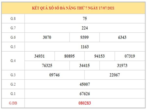 Phân tích KQXSDNG ngày 21/7/2021 dựa trên kết quả kì trước